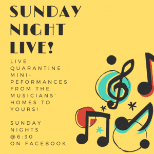 Sunday Night Live! Performances from the Musicians of the PSO: Sunday Nights at 6:30 on Facebook